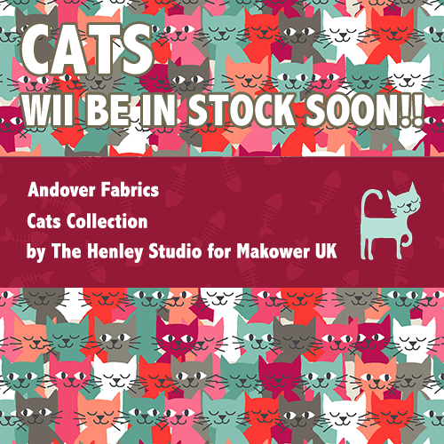 Cats Collection by The Henley Studio for Makower UK