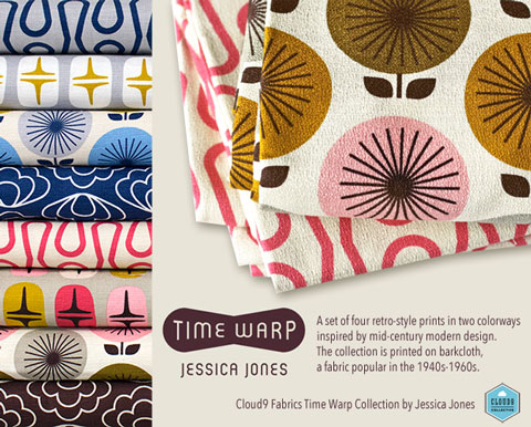 Cloud9 Fabrics Time Warp Collection by Jessica Jones