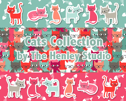 Makower UK Cats Collection by The Henley Studio