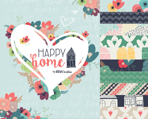 Art Gallery Fabrics Happy Home Collection by Caroline Hulse