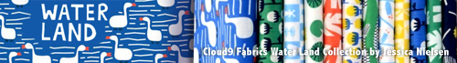 再入荷予定あり Cloud9 Fabrics Water Land