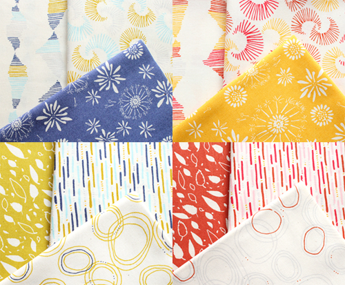 Cloud9 Fabrics Rain Walk Collection カットクロスセット4種