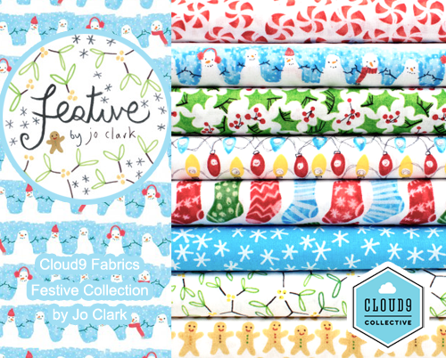 Cloud9 Fabrics Festive Collection by Jo Clark