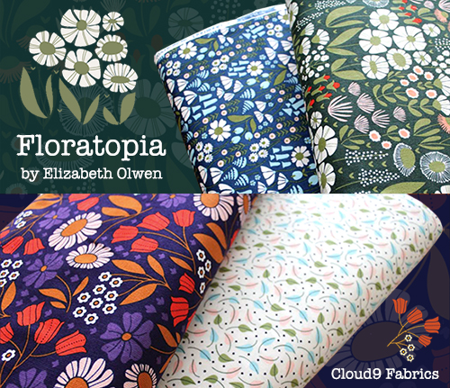 Cloud9 Fabrics Floratopia Corduroy Collection