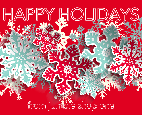 Happy Holidays from jumble shop one