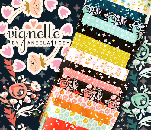 Cloud9 Fabrics Vignette Collection by Aneela Hoey