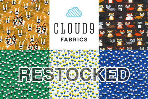 Back in Stock!! Cloud9 人気生地5アイテム