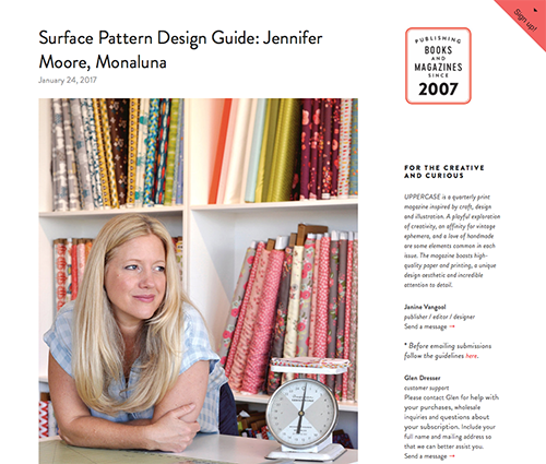 Jennifer Moore Interview from UPPERCASE