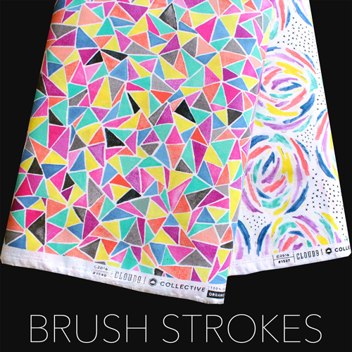 Cloud9 Fabrics 新入荷2つ Brush Strokes