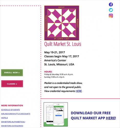 International Quilt Market – St. Louis