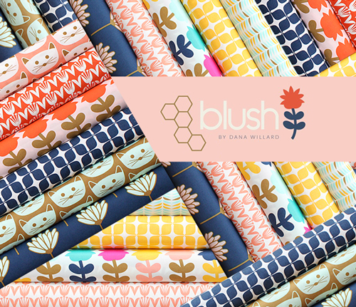 Art Gallery Fabrics Blush Collection by Dana Willard