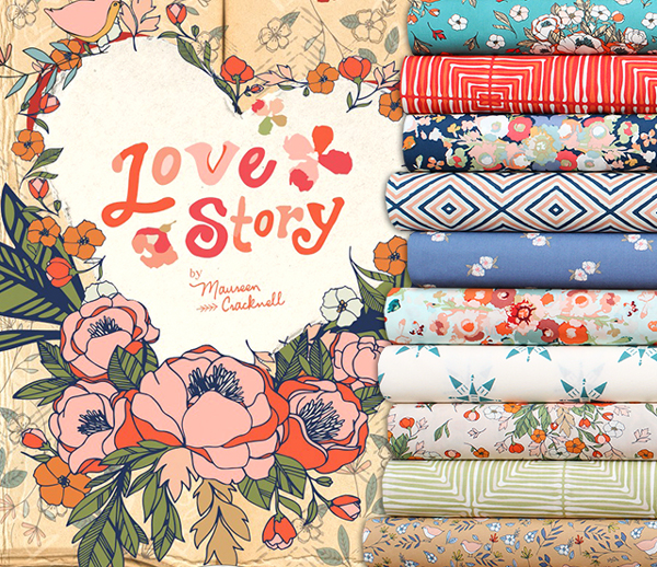 次の掲載予定 Art Gallery Fabrics Love Story Collection