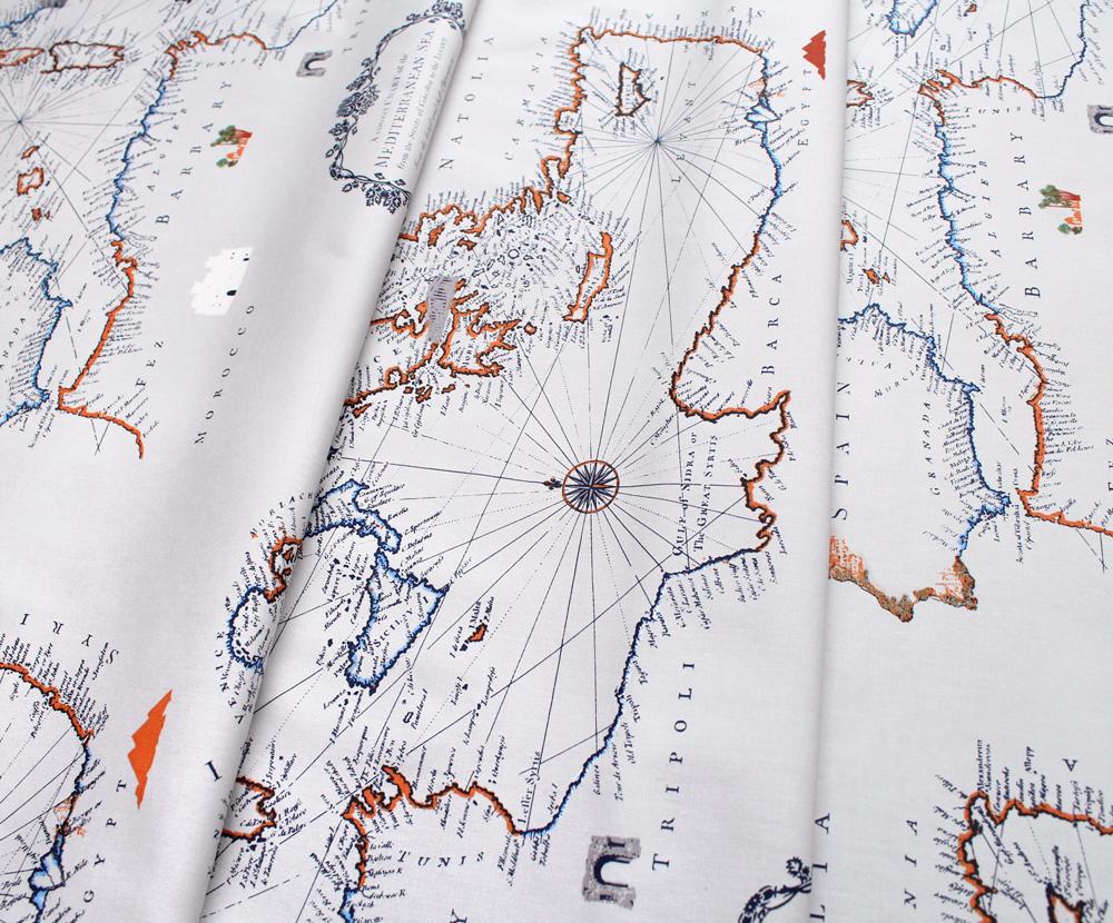 Art Gallery Fabrics Mediterraneo Cartographe
