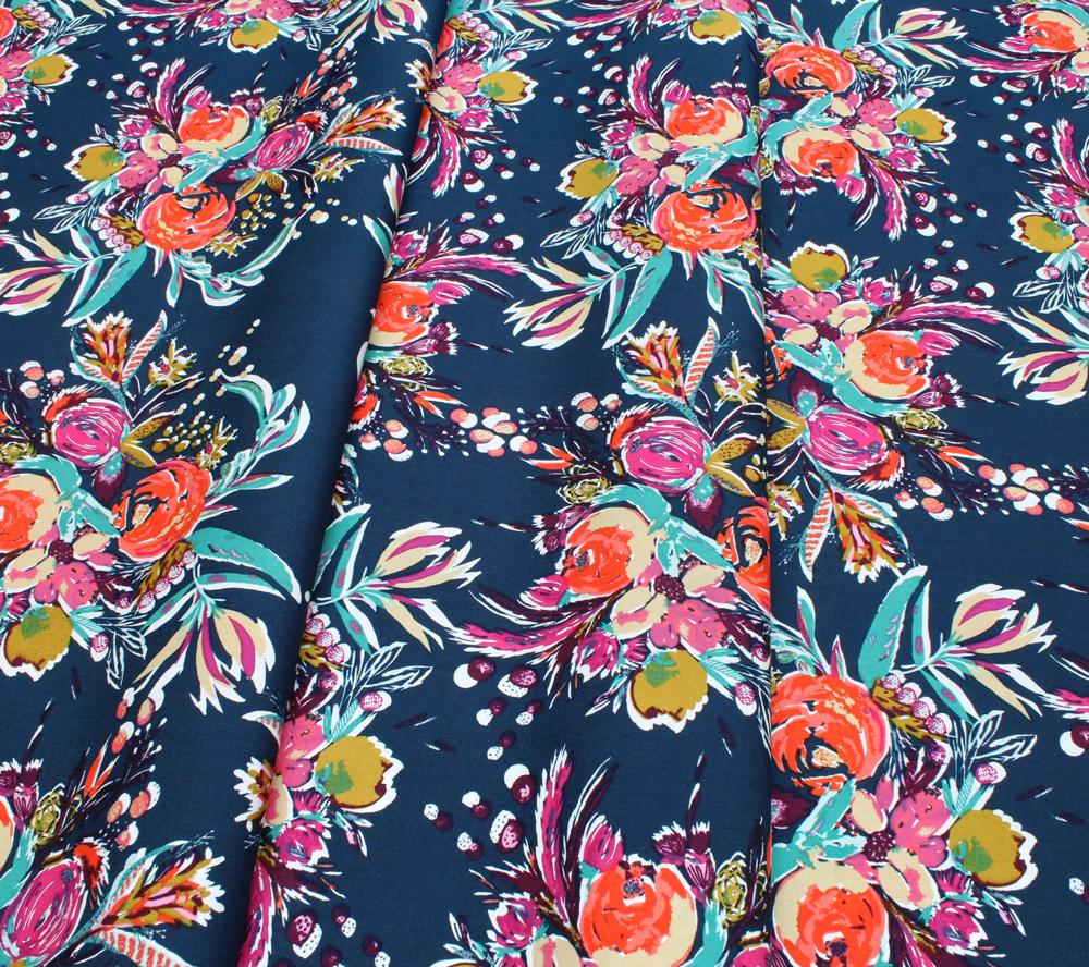 Art Gallery Fabrics Splendid Fusion Coquet Bouquet Splendid