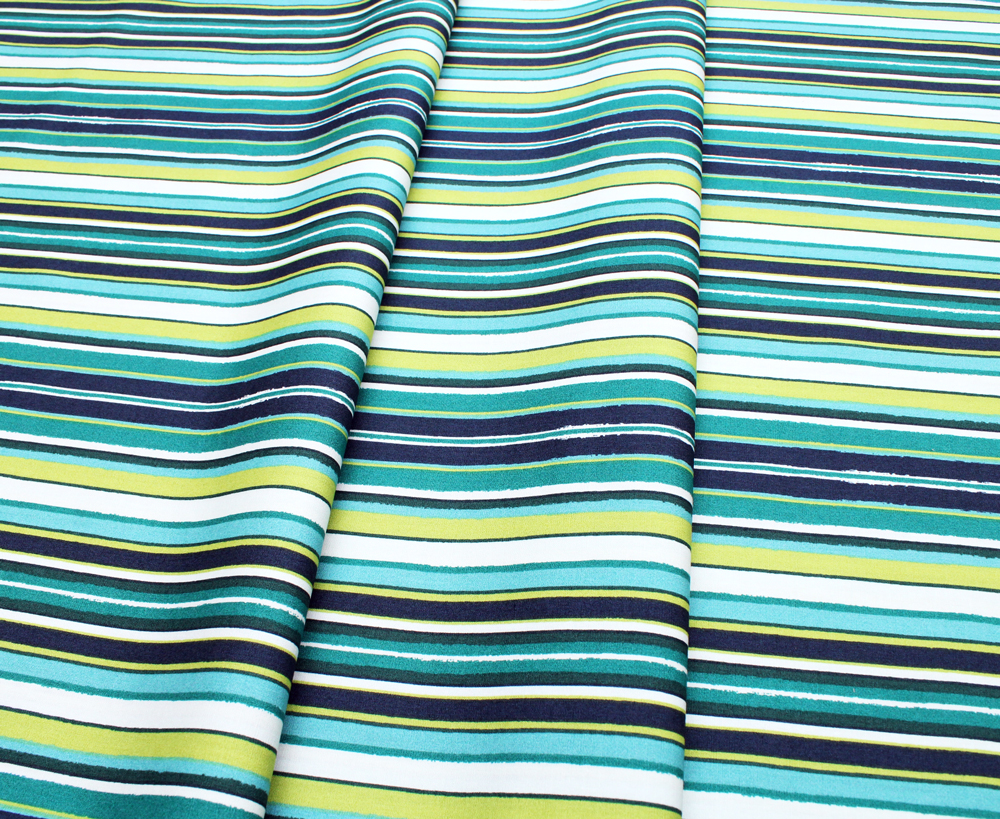 Art Gallery Fabrics Loved to Pieces Striped Flow Marine