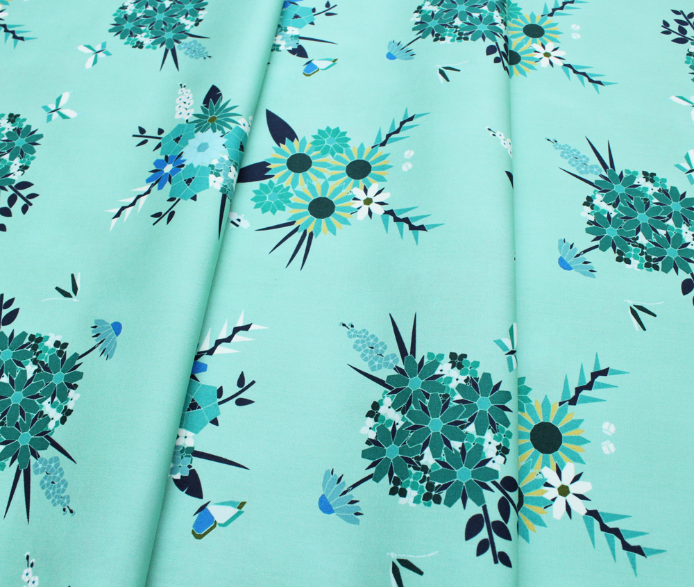 Art Gallery Fabrics Loved to Pieces Pieced Bunches Cool