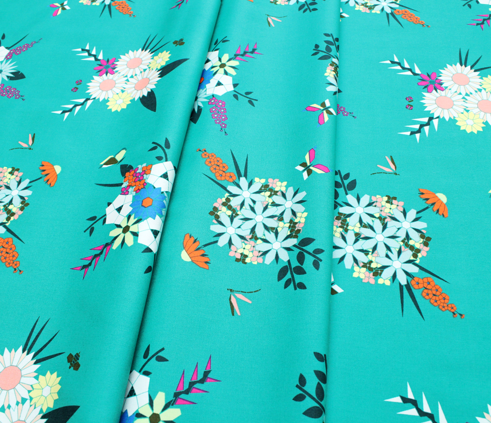 Art Gallery Fabrics Loved to Pieces Pieced Bunches Wild