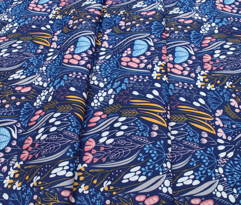 Cloud9 Fabrics Whitehaven 202501 Metcombe Navy