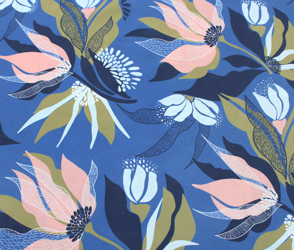 Nerida Hansen Fabrics - Harlow Cornflower Blue by Rachelle Holowko
