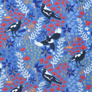 Kennard & Kennard Taking Flight 7083/01 Merry Magpies on Blue