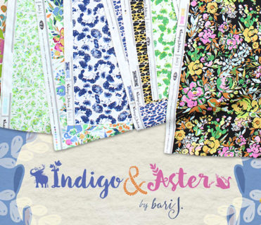 Art Gallery Fabrics Indigo & Aster Collection