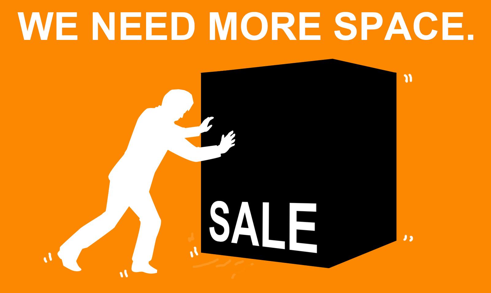 輸入生地セール品追加!WE NEED MORE SPACE!