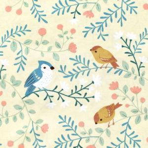 Birch Fabrics Best of Teagan White Birds and Branches Cream