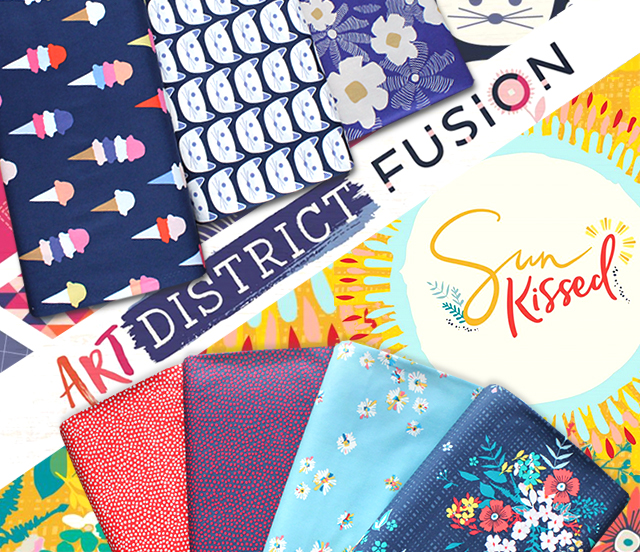 Art Gallery Fabrics Art District Fusion & Sun Kissed Collection 入荷