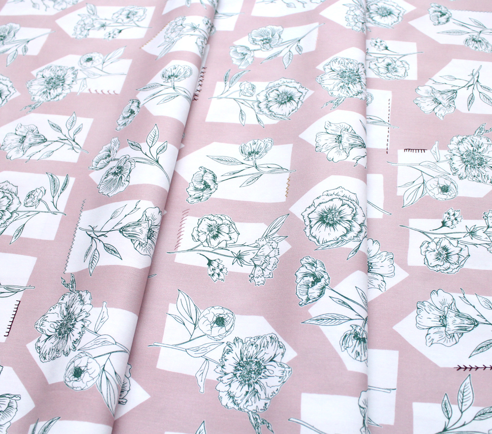 Art Gallery Fabrics Gathered Floret Roost Delight