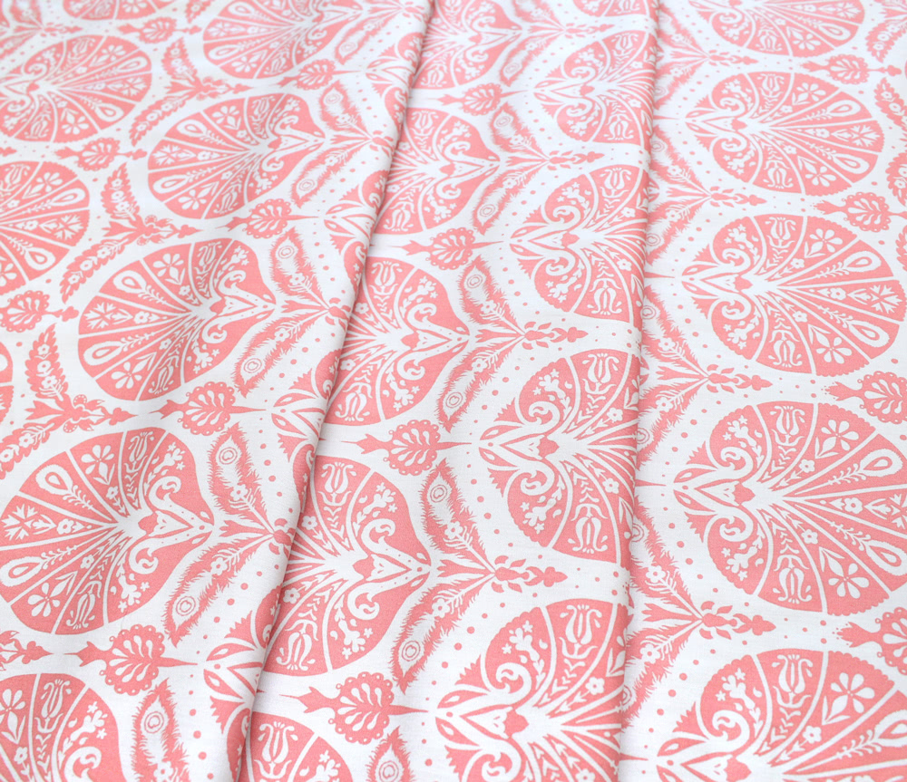 Art Gallery Fabrics Decadence Coquille Damask Coral