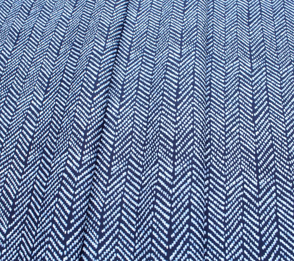 Cloud9 Fabrics Terrestrial 201202 Herringbone Navy
