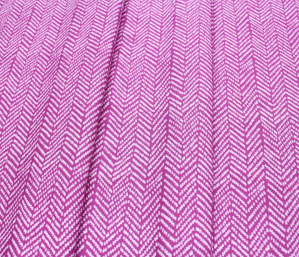 Cloud9 Fabrics Terrestrial 201201 Herringbone Fuchsia