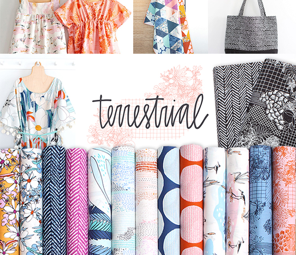 販売開始!Cloud9 Fabrics Terrestrial Collection