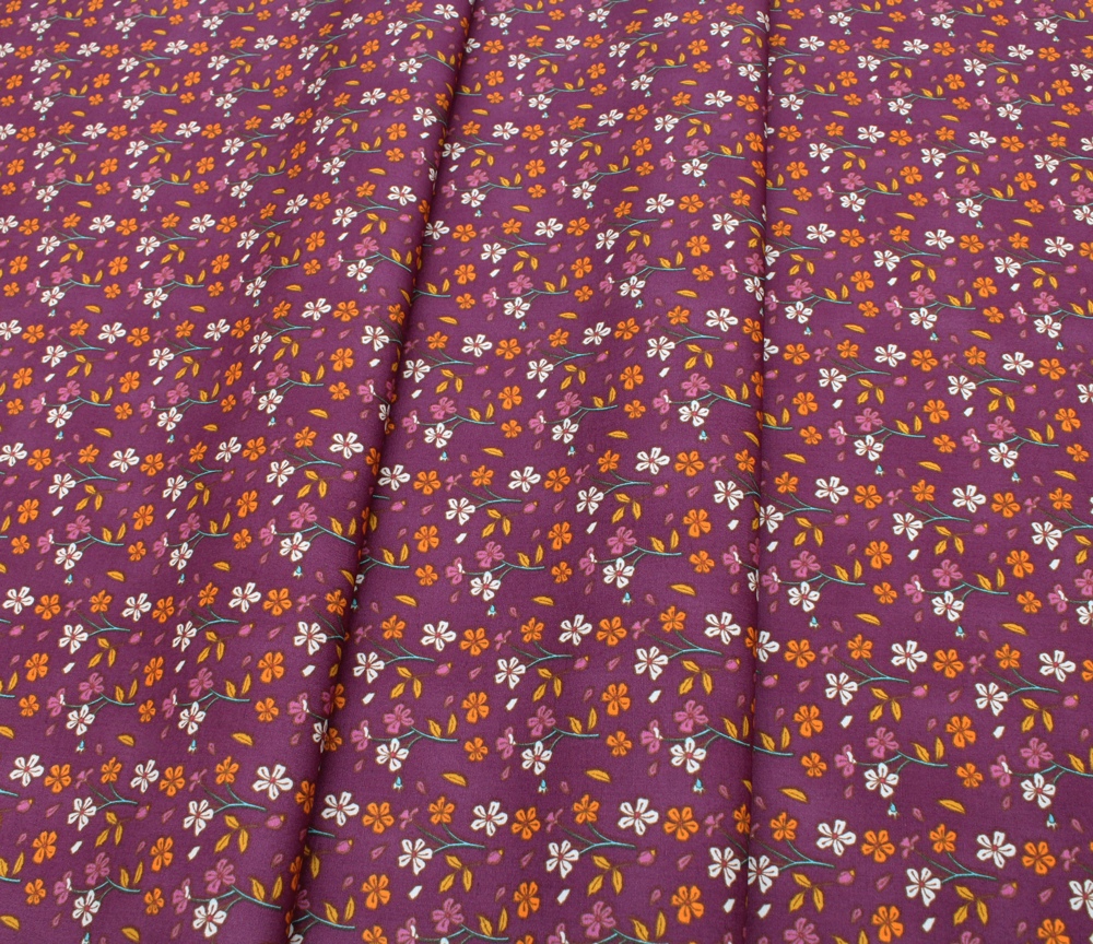 Art Gallery Fabrics Autumn Vibes Cozy Ditzy Plum