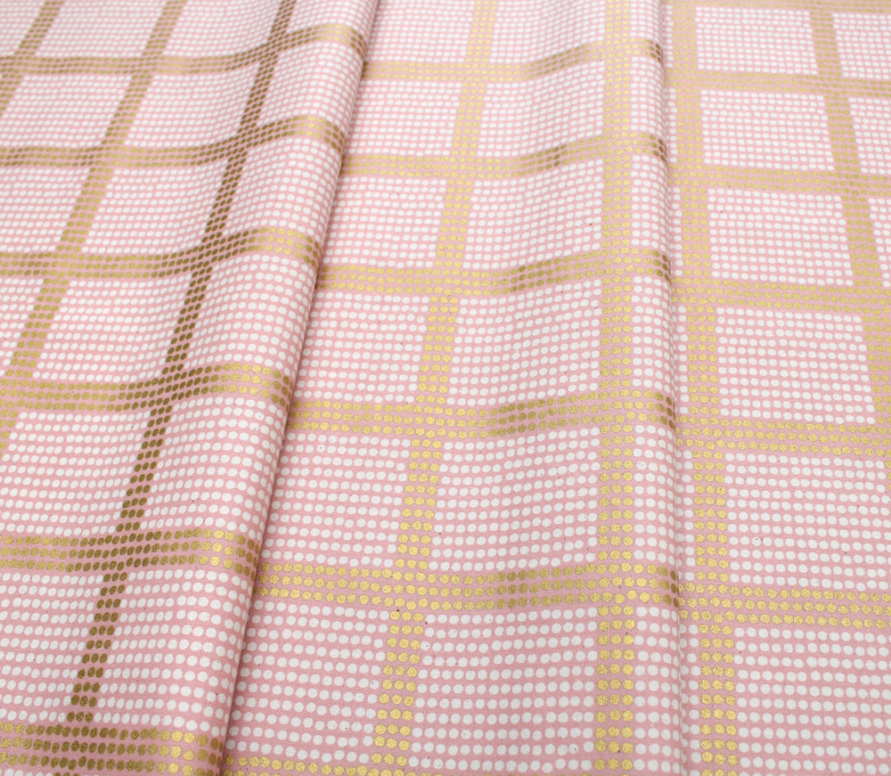 COTTON+STEEL Imagined Landscapes J9012-02 The Avenues Rose Gold Metallic