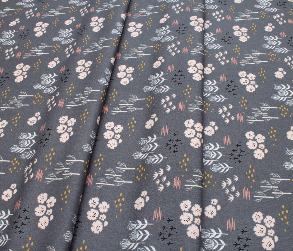 Dashwood Studio Dovestone DOVE 1361 Floral on Grey
