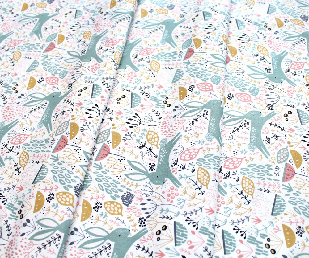 Dashwood Studio Dovestone DOVE 1356 Rabbits on White