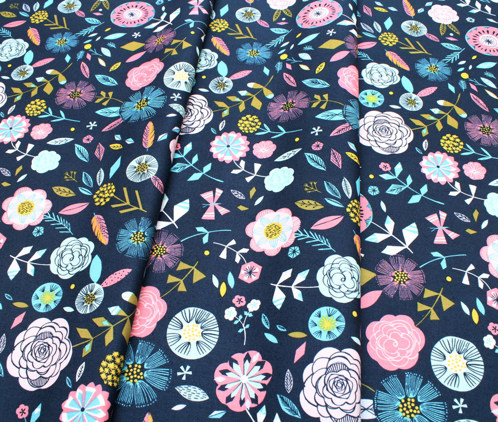 Dashwood Studio Boho Meadow BOHO 1377 Floral on Blue