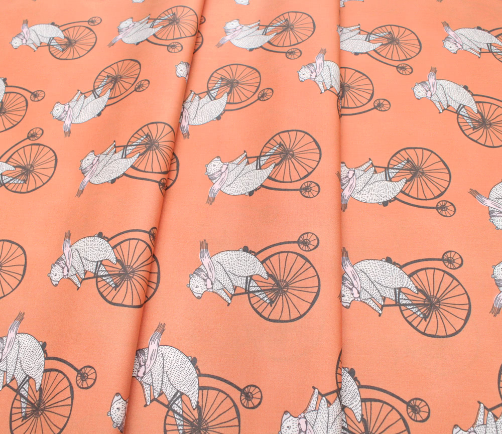 Art Gallery Fabrics Little Clementine Mr.Penny Creamsicle