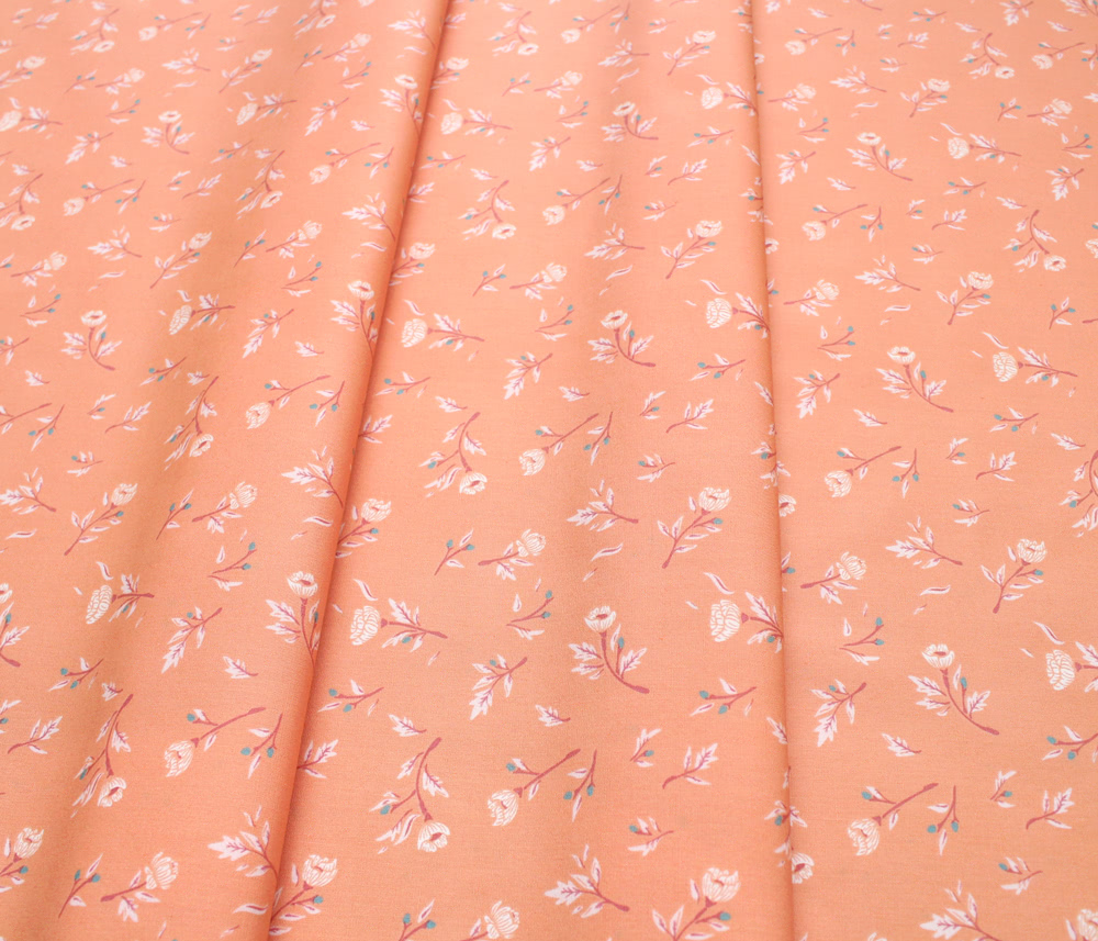 Art Gallery Fabrics Little Clementine Miss Ditzy's Peachcobbler