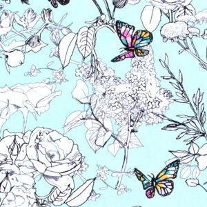 Art Gallery Fabrics Grid Pixelfly Eden Aqua