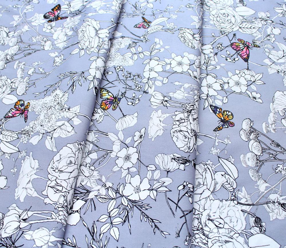 Art Gallery Fabrics Grid Pixelfly Eden Lilac