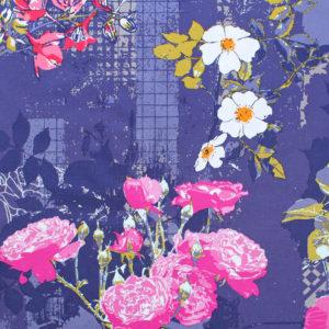 Art Gallery Fabrics Grid Framework Violet