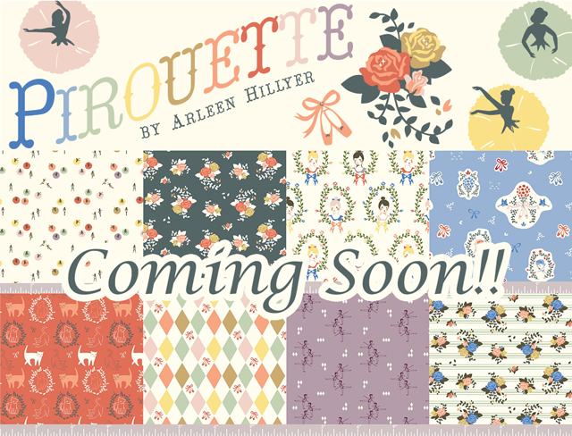 もうすぐ入荷!Birch Fabrics Pirouette Collection