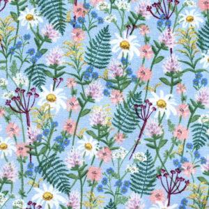 COTTON+STEEL Wildwood RP106-BL1 Wildflowers - Blue