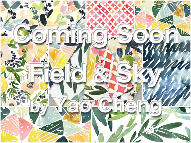 Cloud9 Fabrics 近日入荷予定 Field & Sky Collection