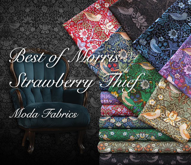 Moda Fabrics Best of Morris Collection Strawberry Thief 取り扱い開始