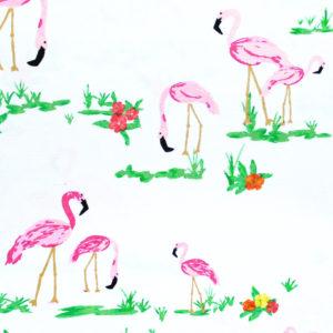 Art Gallery Fabrics West Palm Flamingo Field Pearl