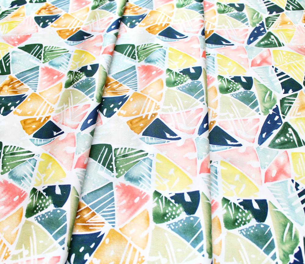 Cloud9 Fabrics Field & Sky 216801 Emerald Triangles
