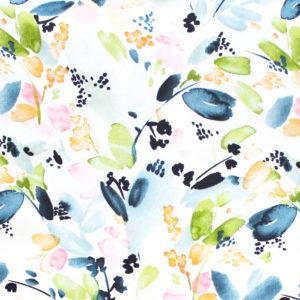 Cloud9 Fabrics Field & Sky 216901 Floral in Indigo